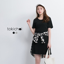TOKICHOI - Short Sleeved Bodycon Dress-170343