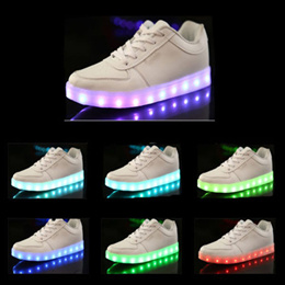 Luminous LED Light Unisex Laced Up Shoes With USB