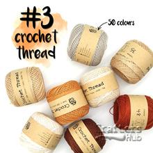 Size 3 crochet thread 50g (White Black Brown Beige) crochet yarn string