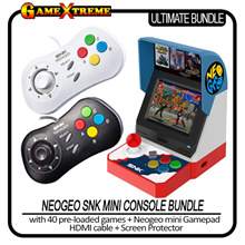 Classic NEOGEO SNK mini Console Bundle 40 Games installed + 1 x Gamepad + HDMI + Screen Protector