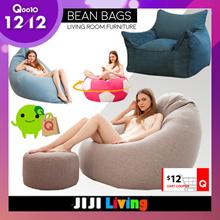 12/12 **60 OFF 12** BEANBAGS! Sofa Premium Bean Bag Chair Soft Cushioning Bedding