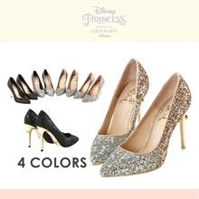 Gracegift-Disney Princess Snow White Gradient Sparkling Heels/Women/Girls Shoes/Taiwan Fashion