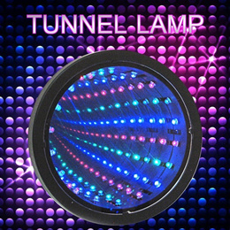 Sensory Infinity Mirror Light Autism Tunnel Wall Relaxing Hypnosis Calm Desk Lamp LED (Color: Multic
