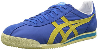 the best attitude 13b03 430a0 Onitsuka Tiger Corsair Vin Classic Running Shoe, Strong Blue/Blazing  Yellow, 4 M US