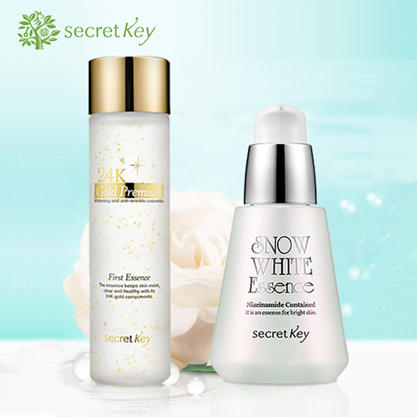 [Launch Promo] Best Essence SecretKey Snow White Essence 30ml / 24K Gold Premium First Essence 150ml Deals for only Rp175.000 instead of Rp175.000