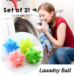 [SG Local Fast Delivery] Set of 2 Laundry Ball ★ Eco Cleaner Softer Clothes Chemical Detergent Free