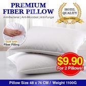 1100g *2 pillow for $9.90 Nett* Premium Hotel Microfiber Pillow/Bolster/Bedding/Bedroom/Comfortabl