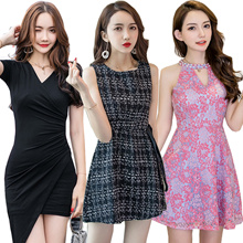 Premium Slim dress/Sexy/Strapless/Halter/Little black dress/Sexy evening dress/high quality