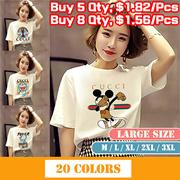 T-shirt   Summer Korean women short-sleeved womens T-shirt bottoming shirt