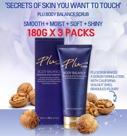 Plu Body Balance Body Scrub 180G x 3packs/Balance Cleansing/Moisturizing/Skin Care Korean Beauty
