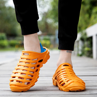 8532eeb2b shop 2018 Men Sandals Summer Slippers Shoes Croc fashion beach Sandals  Casual Flat Slip On Flip