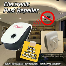 Electronic Pest Repellent - EFFECTIVE AGAINST Cockroaches / Mice / Mosquito / Files and Ants. Safe / Odourless / Pet-Friendly/ Long Term Solutions.Cover 80-120 Sqm. Local Stocks!