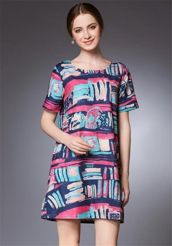 レディースワンピース 大きいサイズ レジャー カラフル ファッション ハイセンス 着心地いい おしゃれ 夏 セール★ レディースワンピース