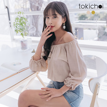 TOKICHOI - Princess Sleeves Off-shoulder Neckline Waist Top-190191