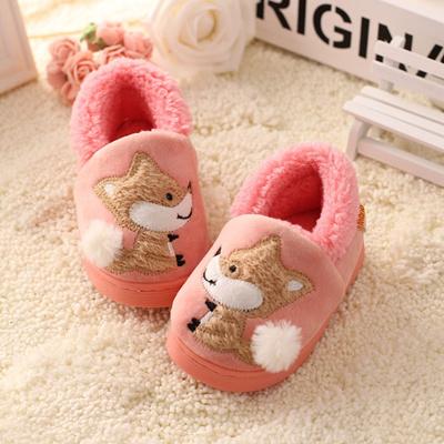 fb3daec3db0 Children  S Cotton Home Slippers Shoes Kids Baby Autumn  Winter Cartoon Fox  Soft Bottom