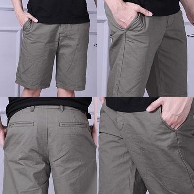 Men Plain Short Pants Army