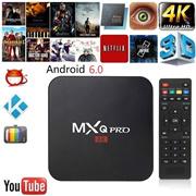 G&FZ Android 6.0 Smart TV Box MXQ pro Amlogic S3229 Quad-core 1GB 8GB HD 1080P 4k*2k Streaming Arabi
