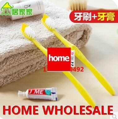 Singapore?20/SET? Disposable toothbrush teeth with toothpaste Hotels Travel Kit Portable Travel tra Deals for only S$9.12 instead of S$0