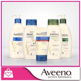 SAVE 50% Aveeno Skin Relief Hand Cream 100g / Skin Relief Wash 354ml / 24Hr Moisturizing Lotion