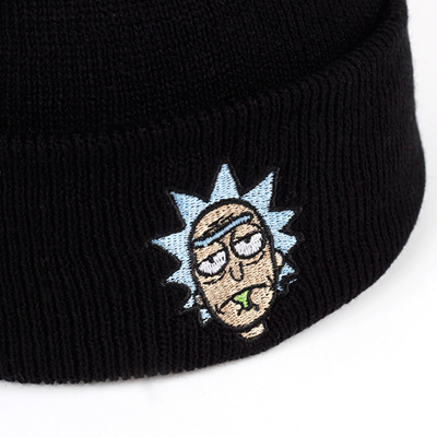 2bbdfc9ae99 sale Rick Beanies Rick and Morty Hats Elastic Brand Embroidery Warm Winter  Unisex Knitted Hat Skulli