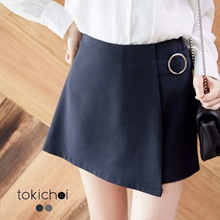TOKICHOI - Asymmetric D-Ring Mini Skirt-6030604-Winter