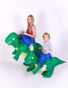 3 size Inflatable Dinosaur T-Rex Fancy Dress adult Kids halloween Costume Dragon Party Outfit animal