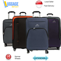 ★4-wheeler Design★Softside 4-Wheel Spinner Expandable Trolley Case Luggage 28 inch