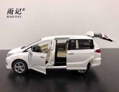 rian day 1/32 scale car model toys honda odyssey mpv sound&light diecast  metal car model