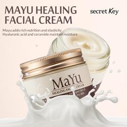 【Secret Key HQ Direct Operation】 Mayu Healing Facial Cream 50g/Rich nutrition goes into deep skin!