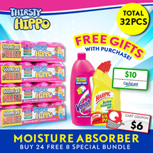 ThirstyHippo Dehumidifier Moisture Absorber 600ml 8packs Carton! Free $10 Capitaland Voucher