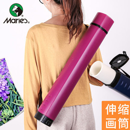 Telescopic Storage tube Poster tube paper barrel with long picture bucket art drum calligraphy and p