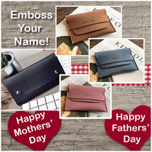 [GIFT]♥Embossed Name Card Wallet| UNISEX Korea style |Mothers Day Father day gift teachers day gift