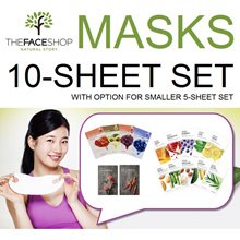 The Face Shop Mask Sheets Set of 10/5 Real Nature / Seed / The Solution TheFaceShop faceshop