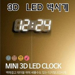 3D  LED 벽시계 / 디지털 벽시계 / 셀프 인테리어 / 집들이 선물/ 관부가세 포함가 / 무료배송