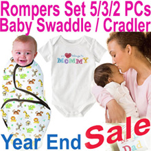 ★Baby Rompers Set / Swaddle Infant Wrap Sleeping Bag★ 2017 Year End Sale 80% Off