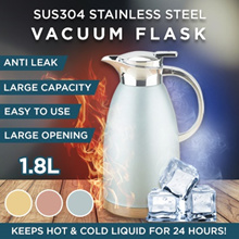 ★ SUS 304★Thermal Flask ★Vacuum Jug★Stainless Steel ★Water Bottle ★Mug ★Thermal Flask★1.8L★