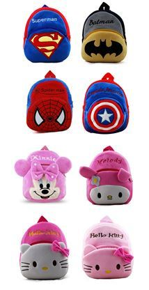 Toddler to Nursery Backpack Bags for 1-3 years old Boys and Girls. Various designs!