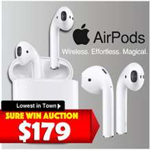 [Lucky Auction (sure win) $179 only!!] Apple Airpod Wireless Bluetooth Ear piece