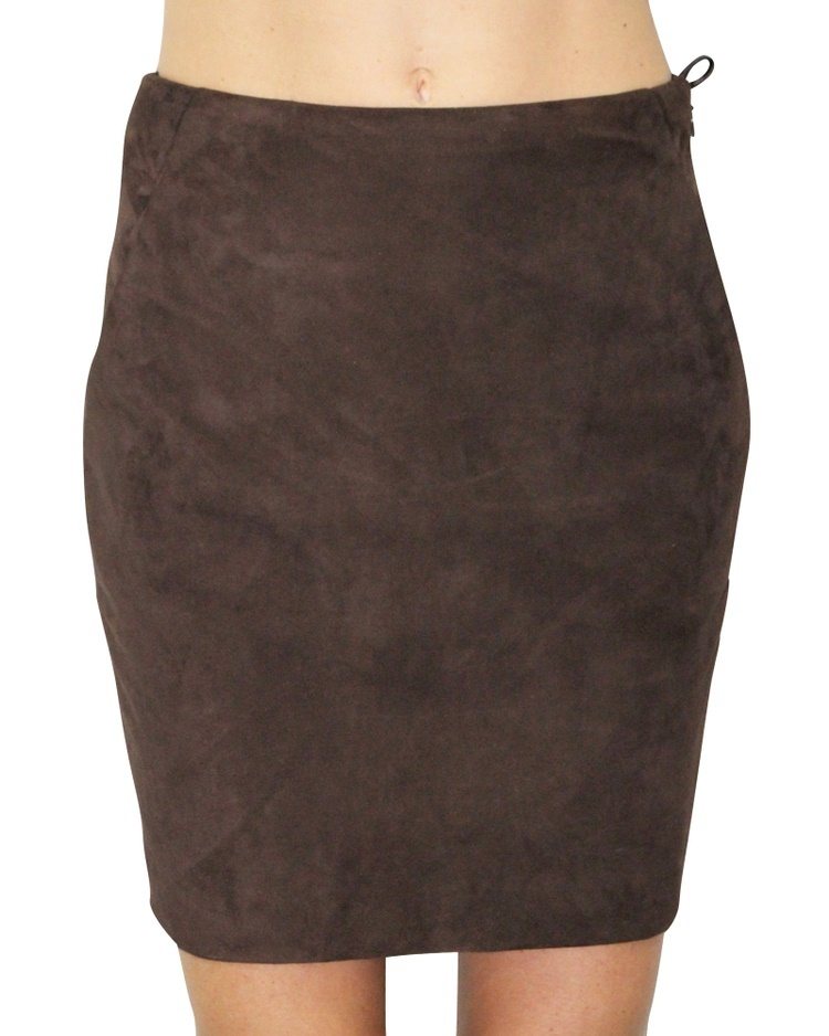 8ac5cbfa75 Qoo10 - 100% Authentic Brown Suede Mini Skirt Size US2 : Women's ...