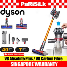 DYSON V8 Absolute Plus / V8 Carbon Fibre CORDLESS VACUUM CLEANER - SINGAPORE WARRANTY