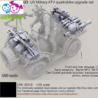 1/35 US Military ATV quadrobike upgrade set - Weaponry, Resin Model soldier  GK, Unassembled and unpa