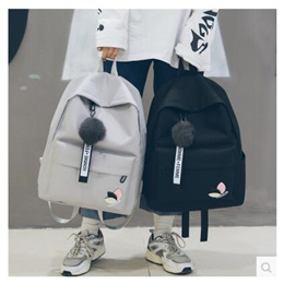 Korean version of Harajuku ulzzang high school students backpack shoulder bag trend of simple canvas