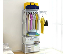 Wardrobe Storage Stainless Steel Cabinet Home and Living Rack
