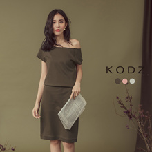 KODZ - Off Shoulder Knee Length Dress-180156-Winter