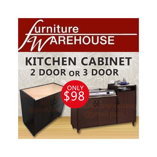 Qoo10 Affordable Kitchen Cabinet, 3 Door Kitchen Cabinet