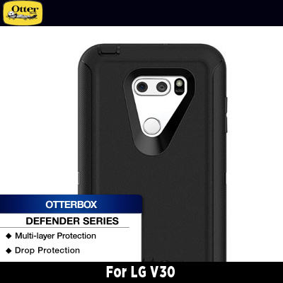 separation shoes 66186 a2c39 OtterBox LG V30 Defender Series Black