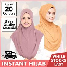 Instant Slip-On / Basic / Lycra/Moss Crepe/Chiffon / Muslimah / Tudung / Hijab / Shawl