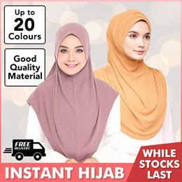 * Restock 21/9/18 * Instant Slip-On | Lycra/Moss Crepe/Chiffon | Muslimah | Tudung | Hijab | Shawl |