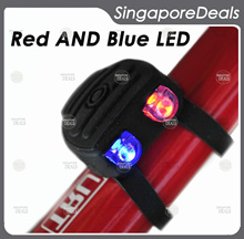 [PZ][A6] Bicycle Blinker Light Silicone Frog Light Red Blue LED Tail Light Bike Warning Light