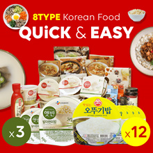 [Ottogi/CJ]★Cooked Rice x12ea Brown Rice x3ea★ Korean Food 8Type/Bibimbob/Beef Soup/Bean Paste Stew